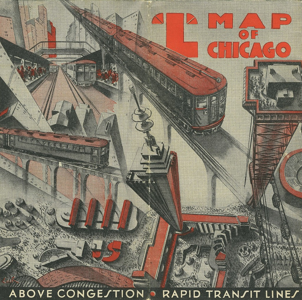 """map produced in conjunction with that year's """"Century Of Progress"""" World's Fair in Chicago"""