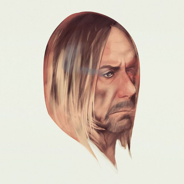 Illustration of Iggy Pop for The Village Voice by Jack Hughes