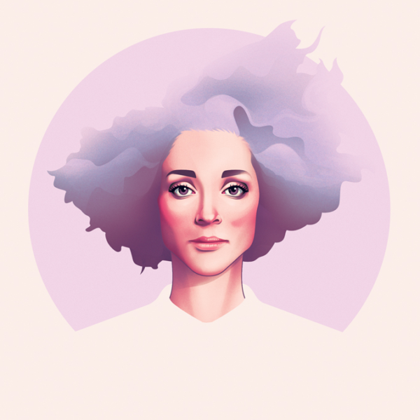 St. Vincent illustration for Guitar World by Jack Hughes