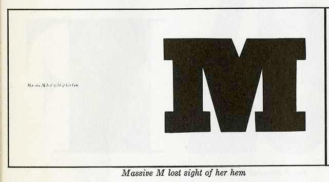 "massive ""M"" lost sight of her hem"