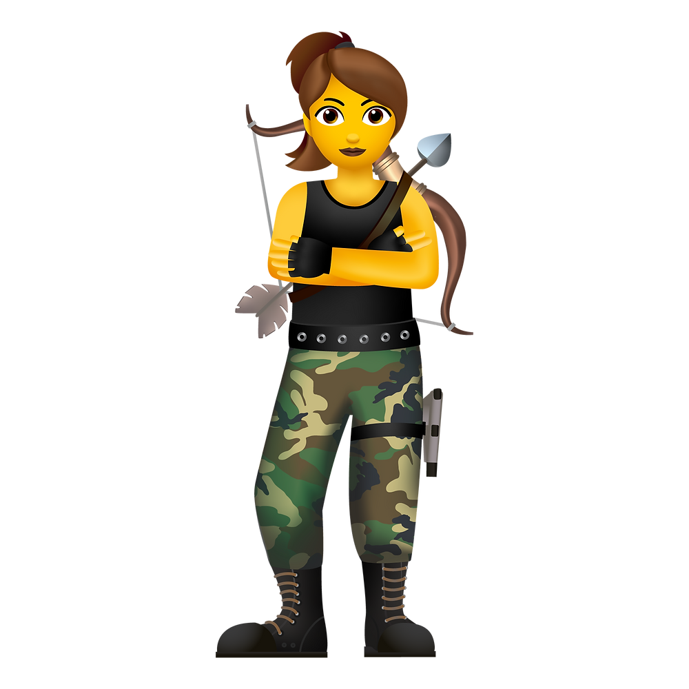 woman emoji archer