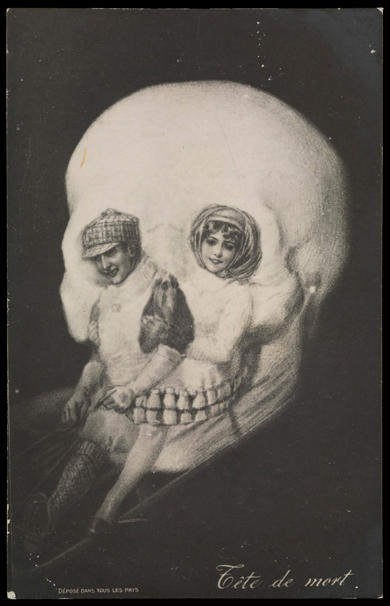 "'Tête de Mort' - ""death's head"" postcard"