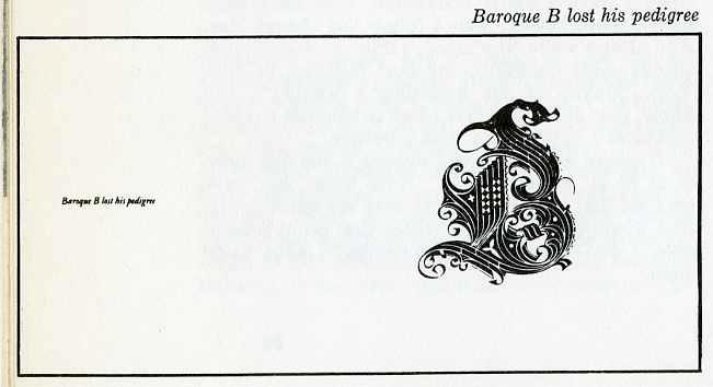 "baroque ""B"" lost his pedigree"