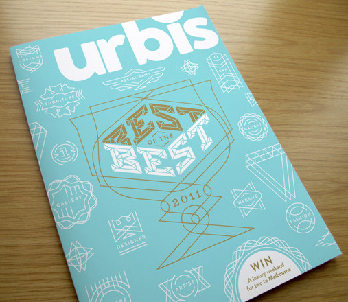 Check out the ornate line drawings and strong typography used on this Urbis Magazine cover by Soulseven, aka Samuel Soulek, a Minneapolis-based graphic designer.