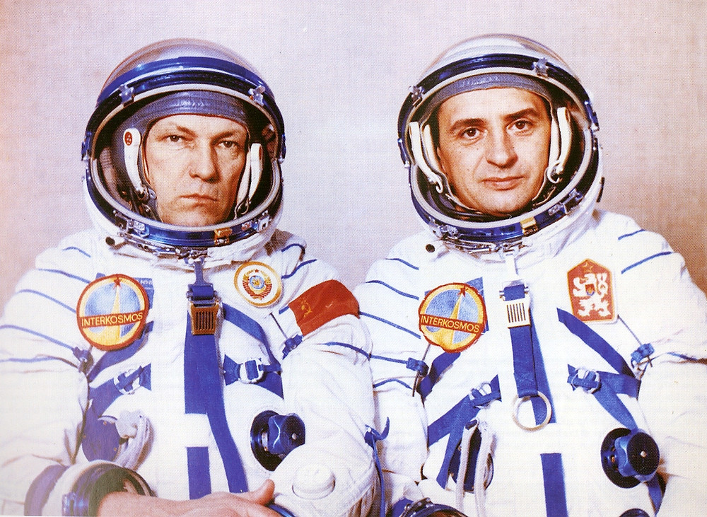 cosmonauts with patches
