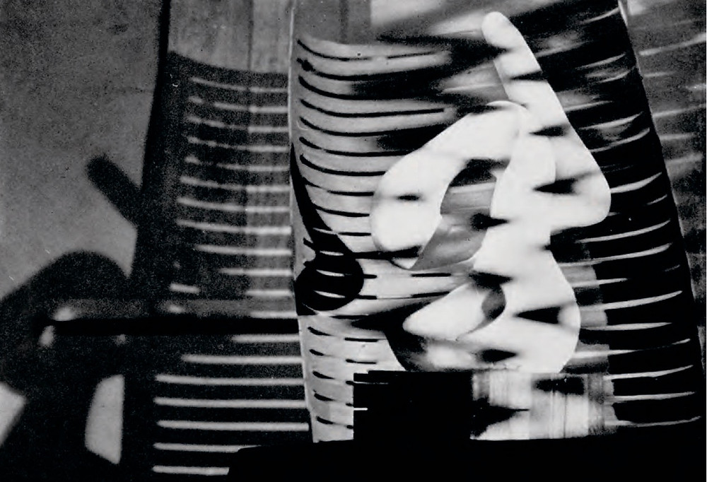 """Millie Goldsholl, """"Light Modulator,"""" 1945, in Vision in Motion by László Moholy-Nagy. Paul Theobald & Company, 1947."""