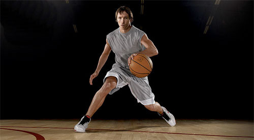 This ad for Nike, a billboard appearing in Europe, was an endorsement by the professional basketball player Steve Nash. This ad works on many levels, creating more associations for those who know about Nash: In addition to being a basketball player, he also plays soccer, which many Europeans would know. Plus he's Canadian, adding another international layer.