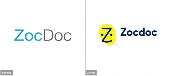 ZocDoc's logo switch introduces bright yellow