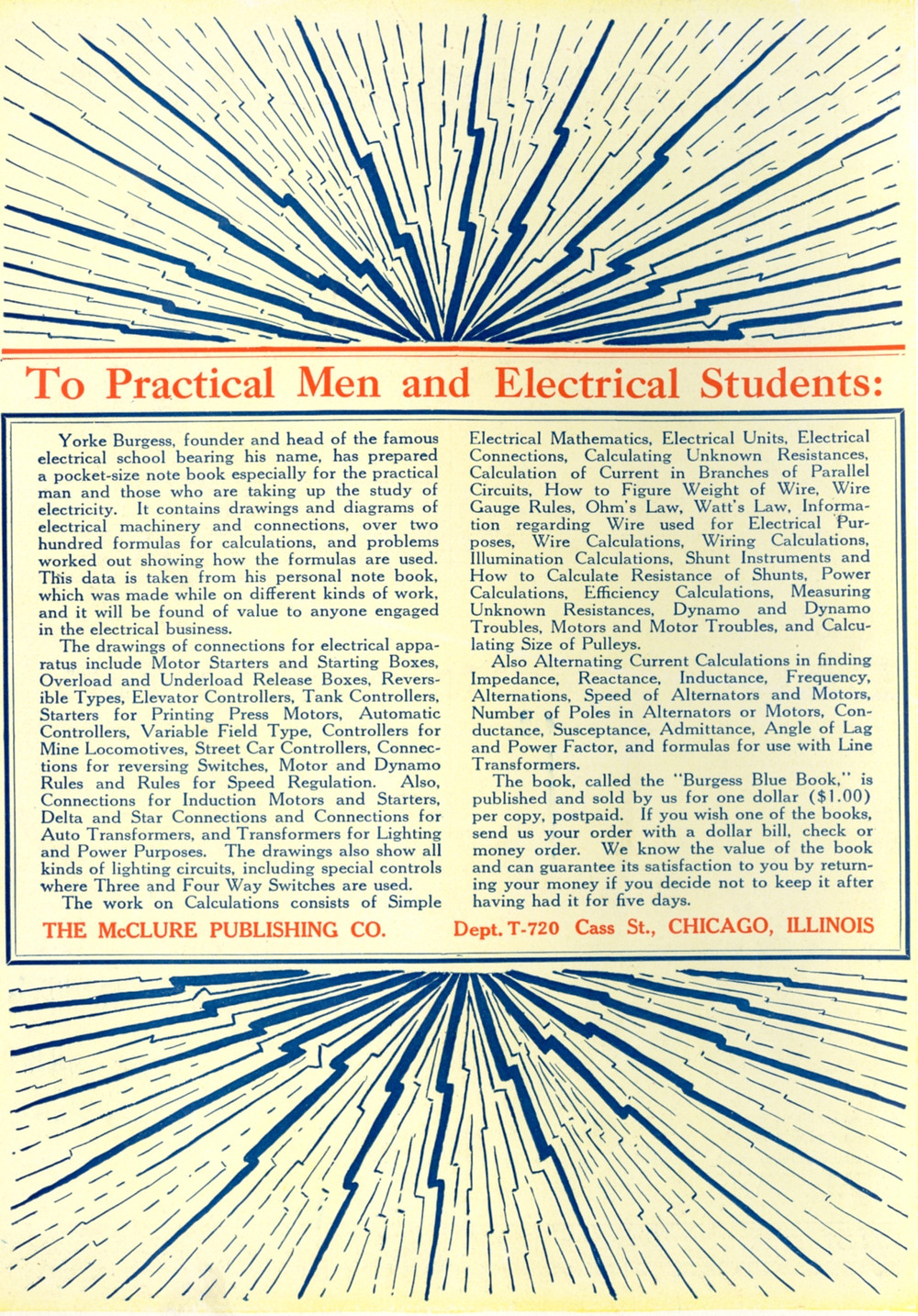 to practical men and electrical students