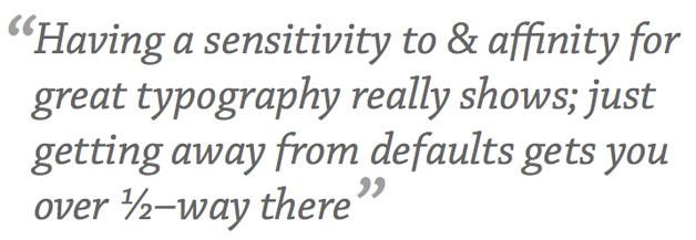 opentype_pullquote; typographic design