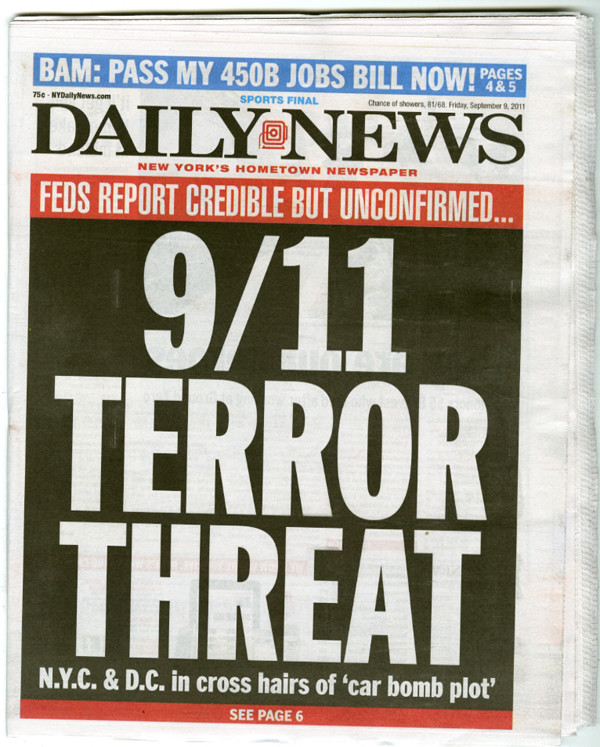 9/11 Terror Threat Daily News
