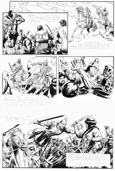 Mark Schultz writes the Prince Valiant comic.