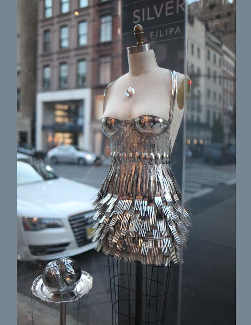 One-of-a-Kind Luxury on Madison Avenue silver dress