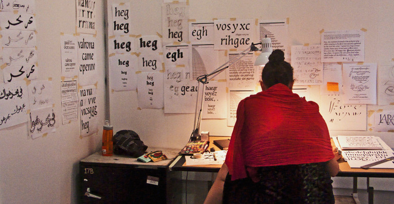 Lara Captan transforms her sketches into digital type with FontLab software.
