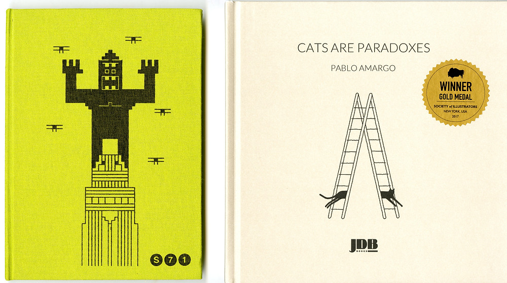 Pablo Amargo and Tibor Kárpáti's books have similar design styles.