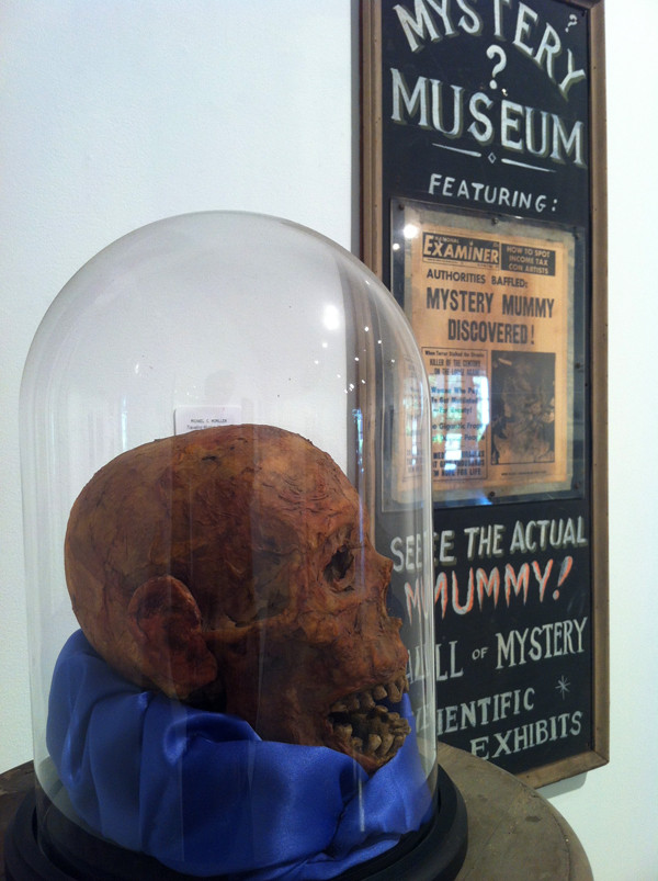 """Michael C. McMillen: """"Mystery Museum"""" mixed media, 1974. Installation view photo by M. Dooley."""
