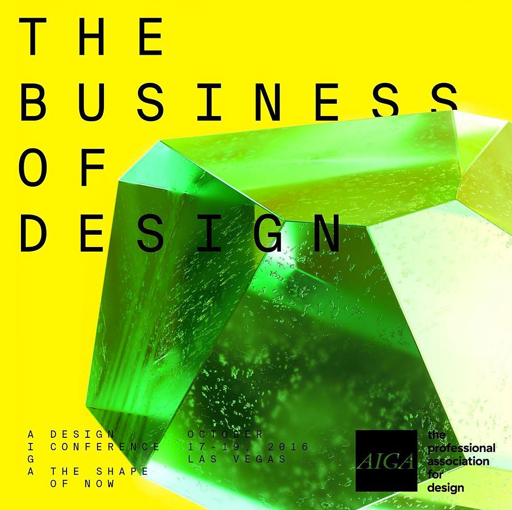 AIGA Business of Design, 2016 conference poster