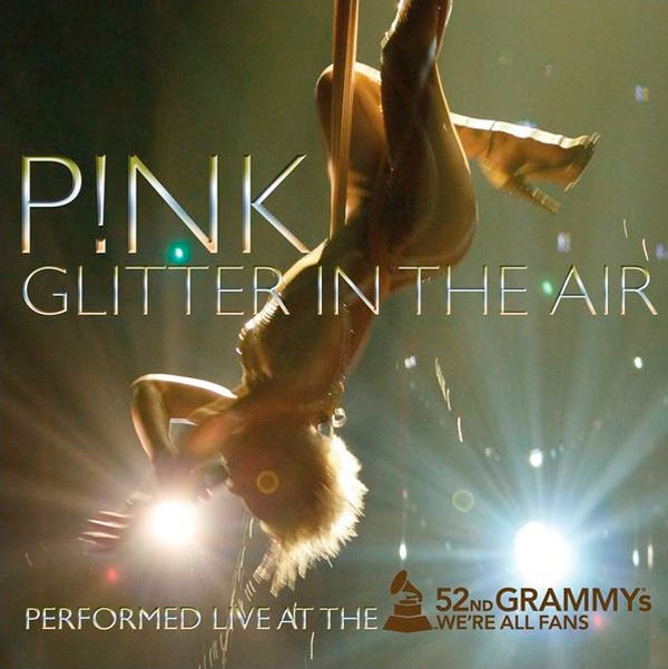 P!NK glitter in the air