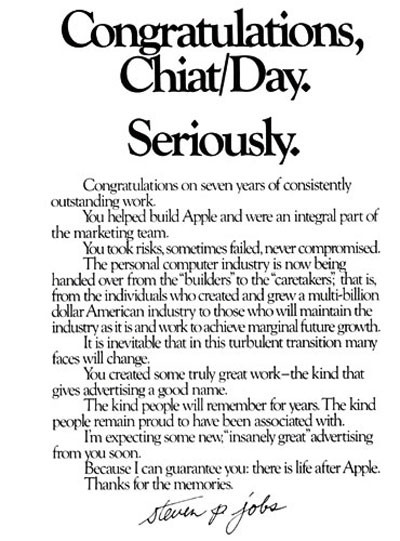 "1981 Chait/Day ""Seriously"" Ad."