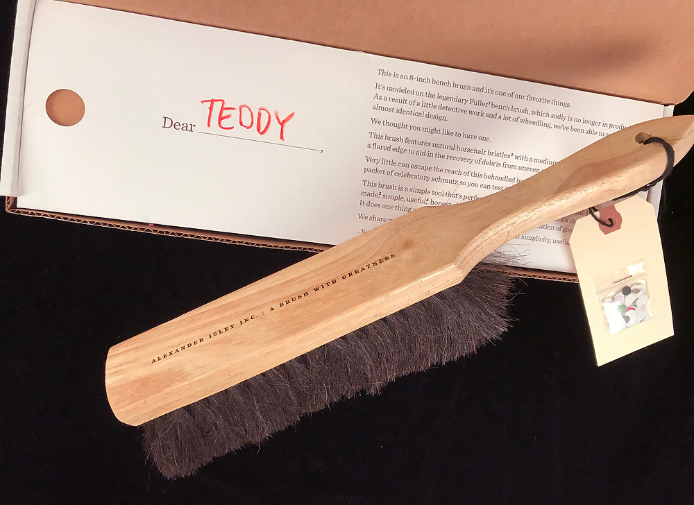 Horsehair Brush: Based on the classic Fuller desk brush, which sadly is no longer in production. With some digging and luck we were able to source a replica, which was our most recent gift.