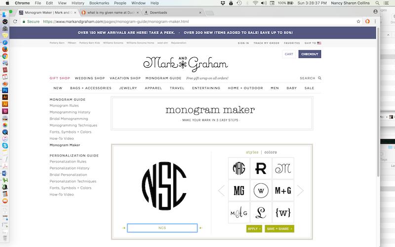 Free-monogram-generator