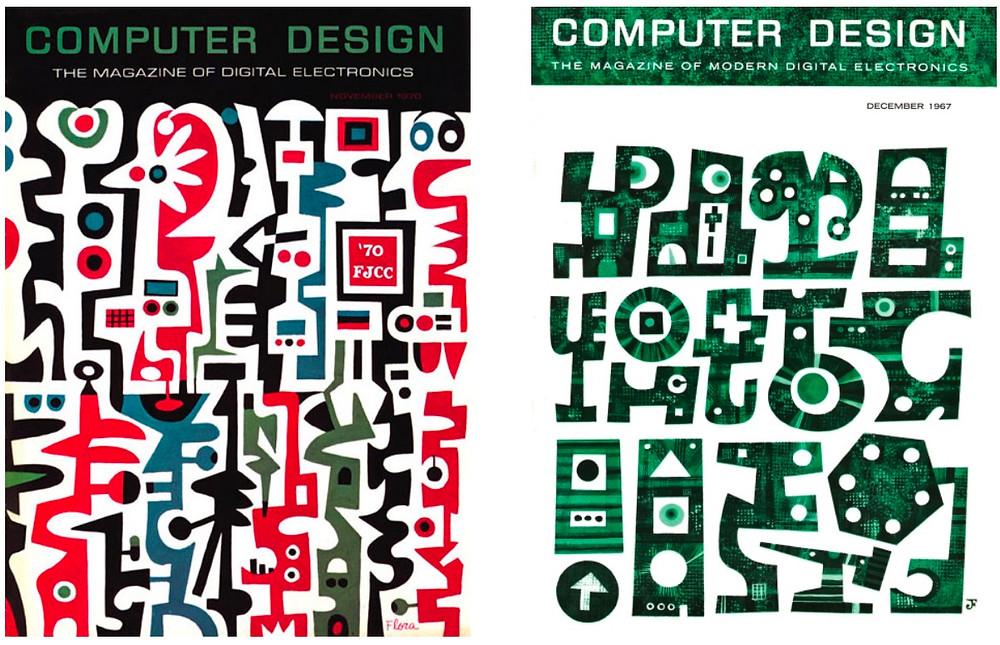 computer design magazine cover