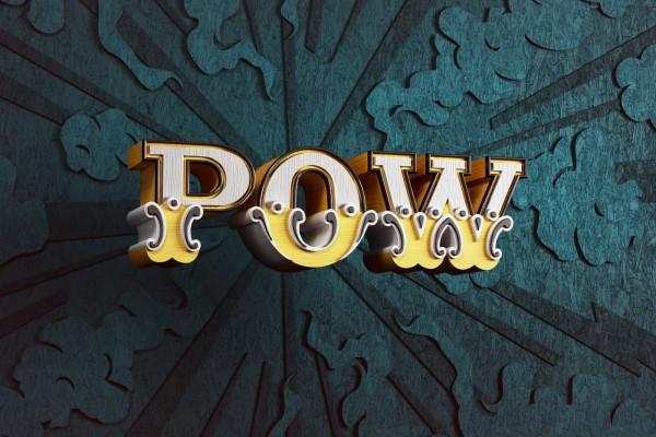 """POW"" background illustration in collaboration with Andy Gellenberg/WEAREKIDZ"