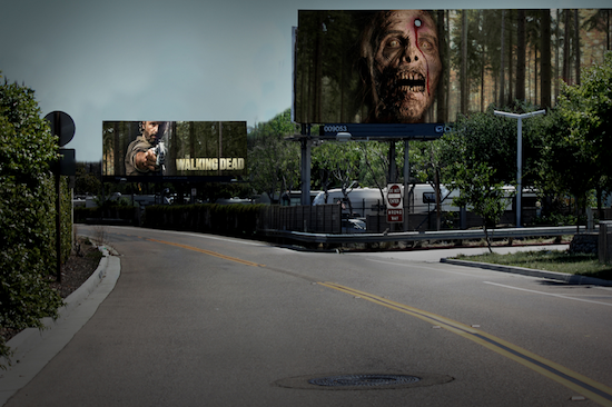 This billboard advertisement for The Walking Dead may prompt the public to watch or learn more about the show online. This advertising campaign was recognized in Print's Legends in Advertising Awards. See more winners.