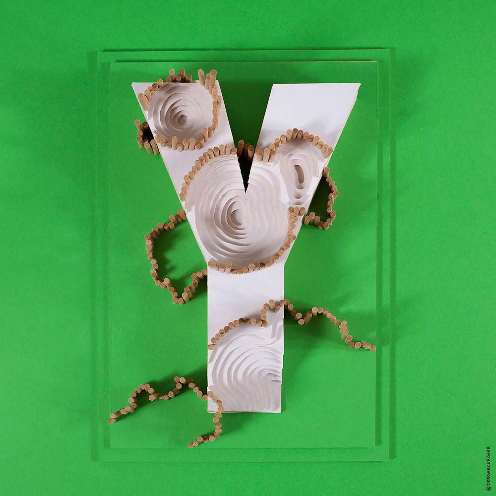 """Jerome Corgier """"ArchiLetters"""" - Y"""