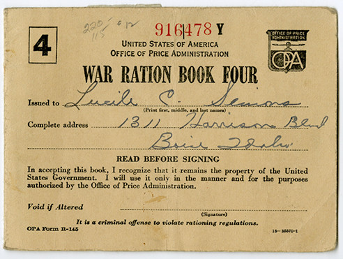 WAR RATION BOOK FOUR