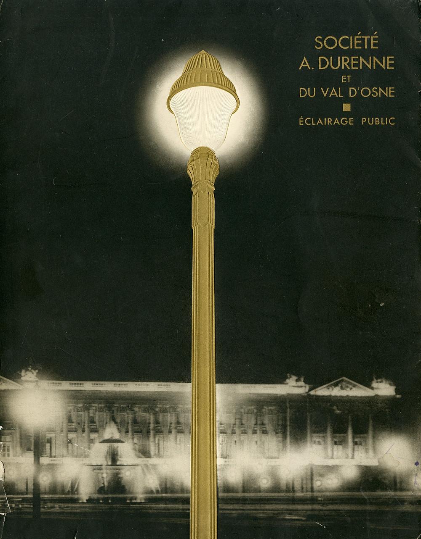 Société A. Durenne et du Val d'Osne's catalog of lampposts for the city of lights