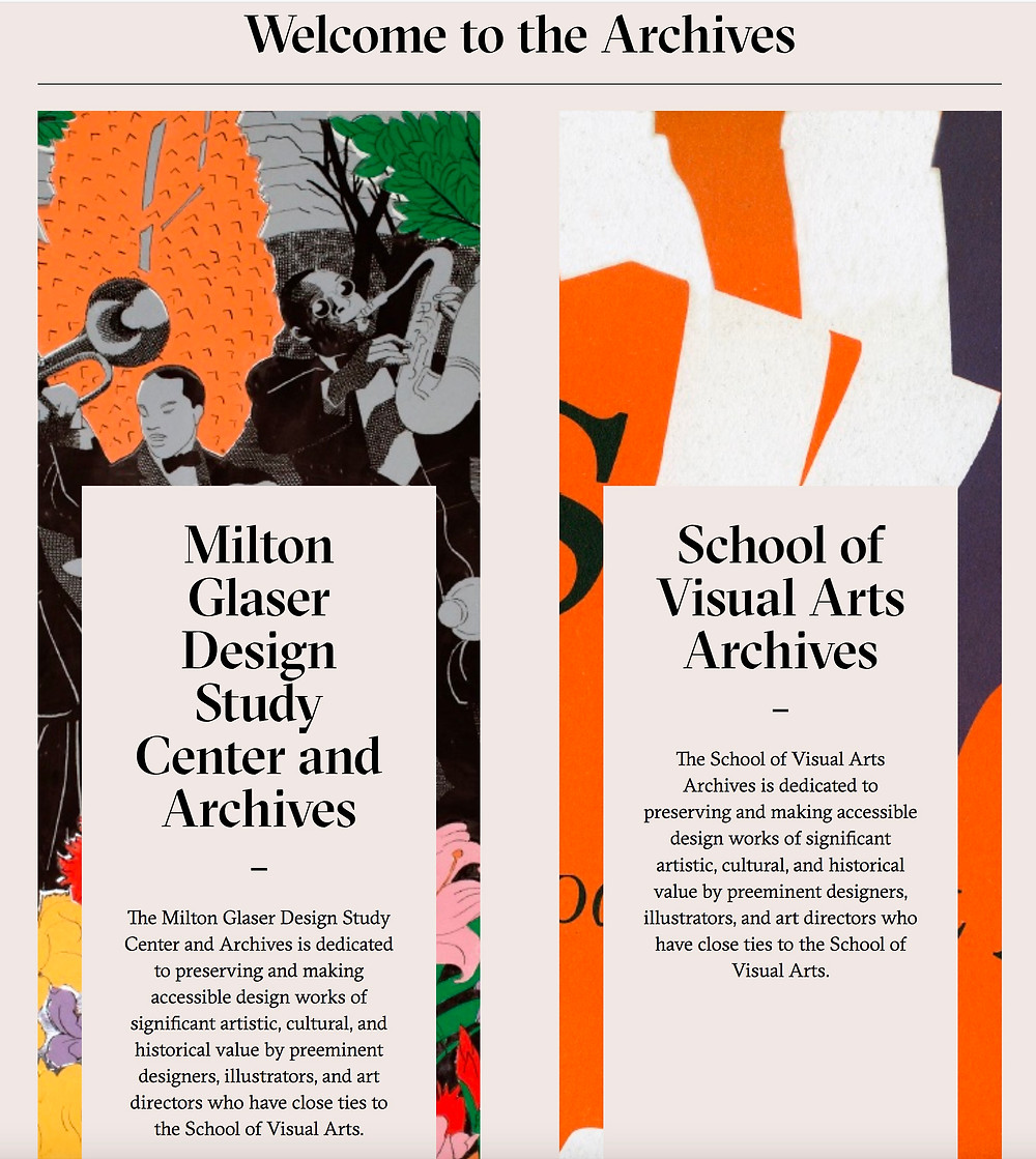 Milton Glaser Archive and School of Visual Arts Archive