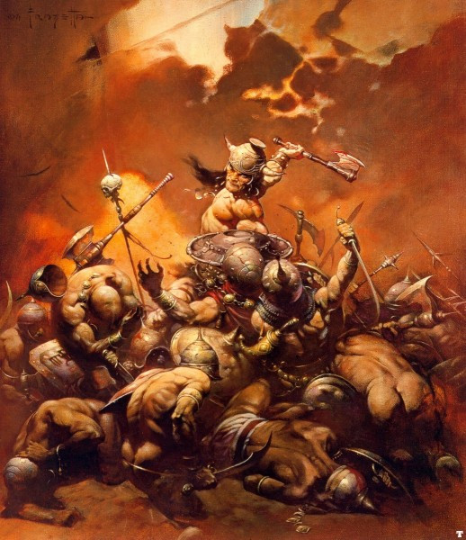 Robert E. Howard's Conan the Barbarian by Frazetta.