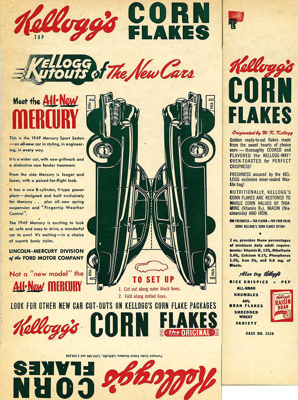 kelloggs corn flakes- kellogg kutouts of the new cars
