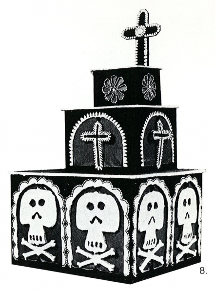 Fig. 8—Oaxacan toy tomb decorated with cut-out designs and used as a lantern. Courtesy of UCLA Museum of Cultural History; photographer: Richard Todd