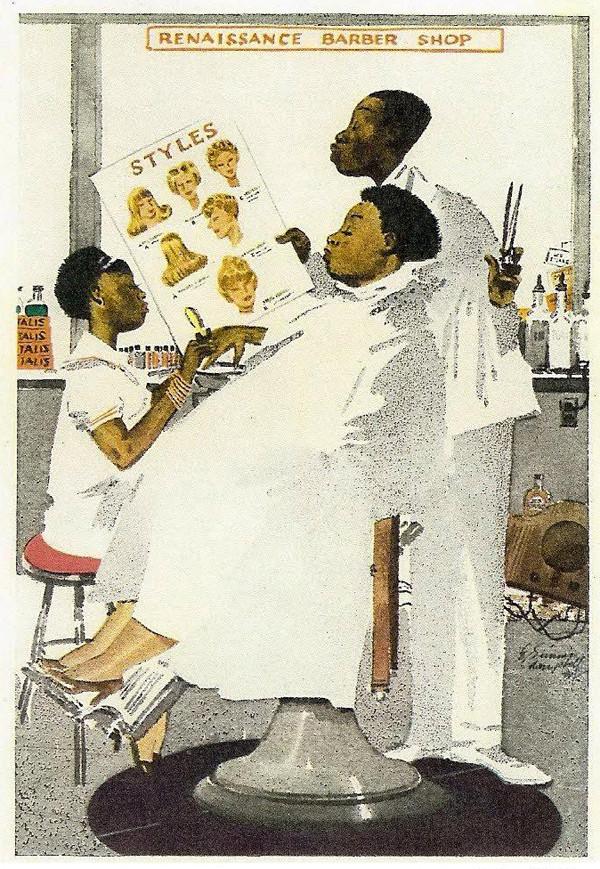E Simms Campbell - renaissance barber shop