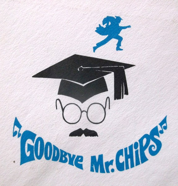 Logo sketch for Goodbye Mr. Chips, starring Peter O'Toole, 1969