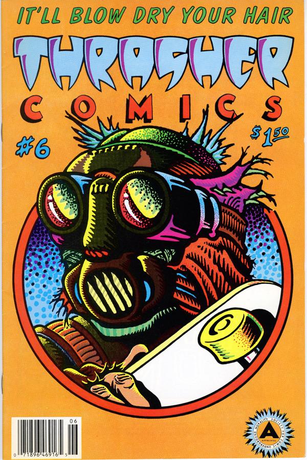 """Ken Jones: """"Thrasher Comics"""" #6, 1988."""