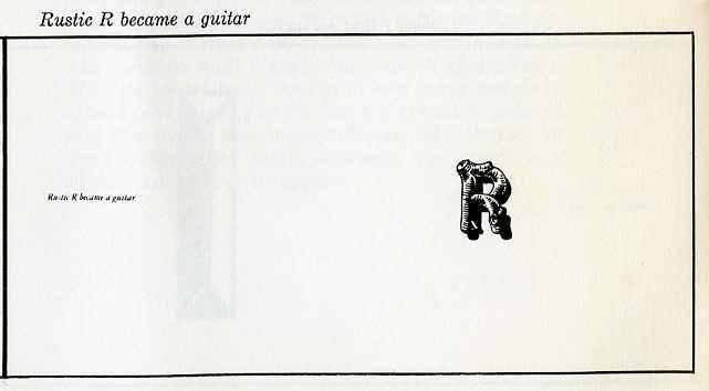"rustic ""R"" became a guitar"