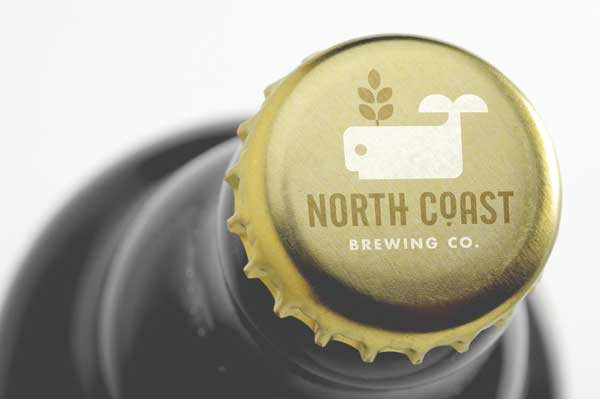A fictional bottle and cap design for North Coast Brewing.