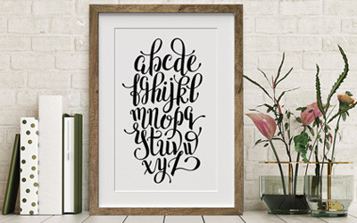 Lettering and Typographic Canvas Prints—a Perfect Pairing