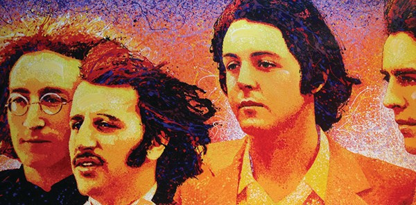 "The Beatles, 2005 by David Willardson | Acrylic on canvas 120"" x 48"" 