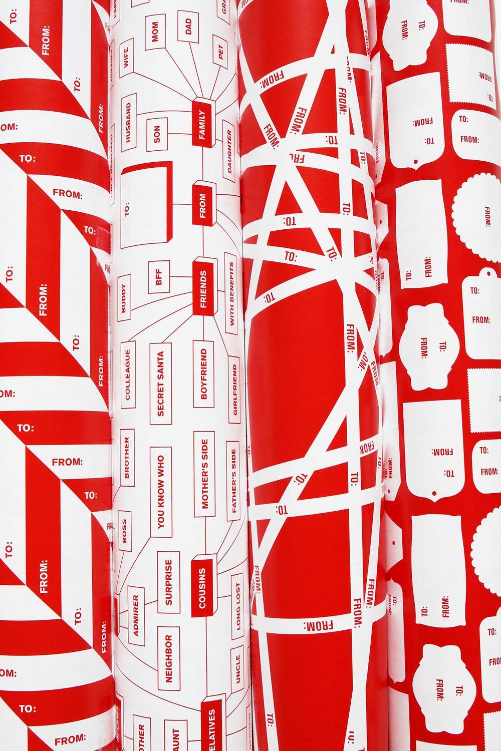 Design Army To From giftwrap (V2), $15: http://feltandwireshop.com/products/design-army-to-from-v2