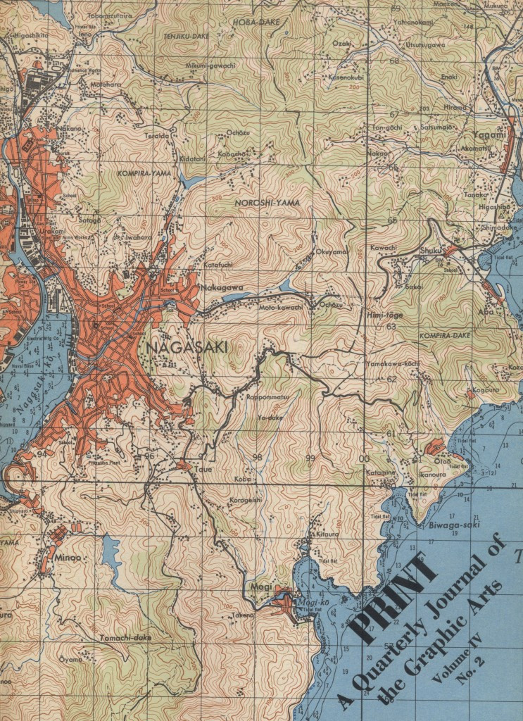 Volume IV, Number 2. Cover map of Nagasaki from the Army Map Service.
