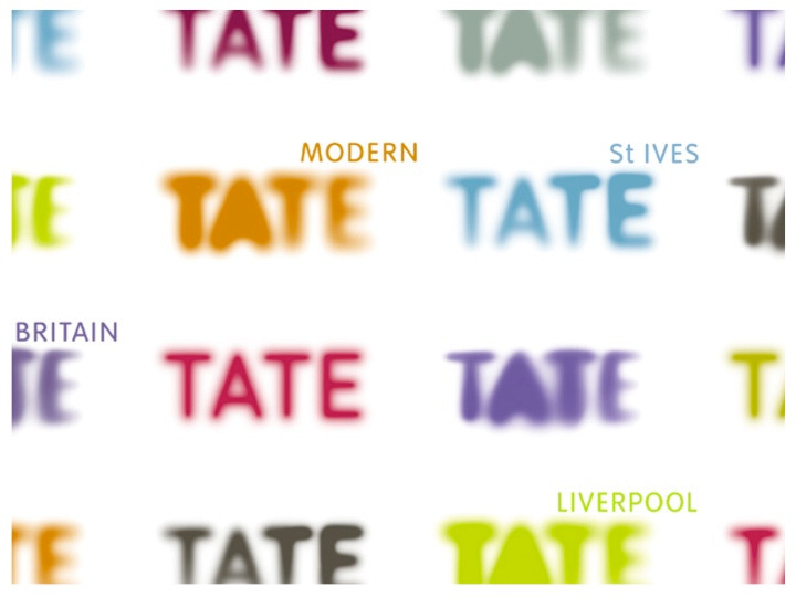 Tate Modern logo by Marina Willer / Wolff Olins