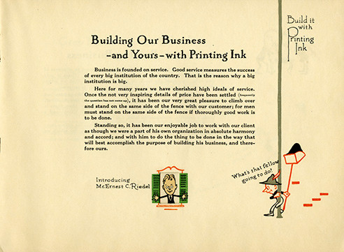 Build it with printing ink