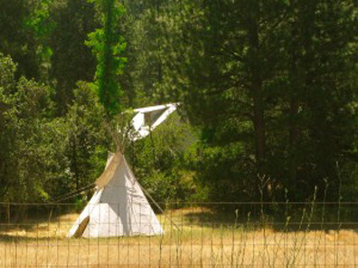 Teepee on the road I grew up on by Lake Vera, Nevada City, CA