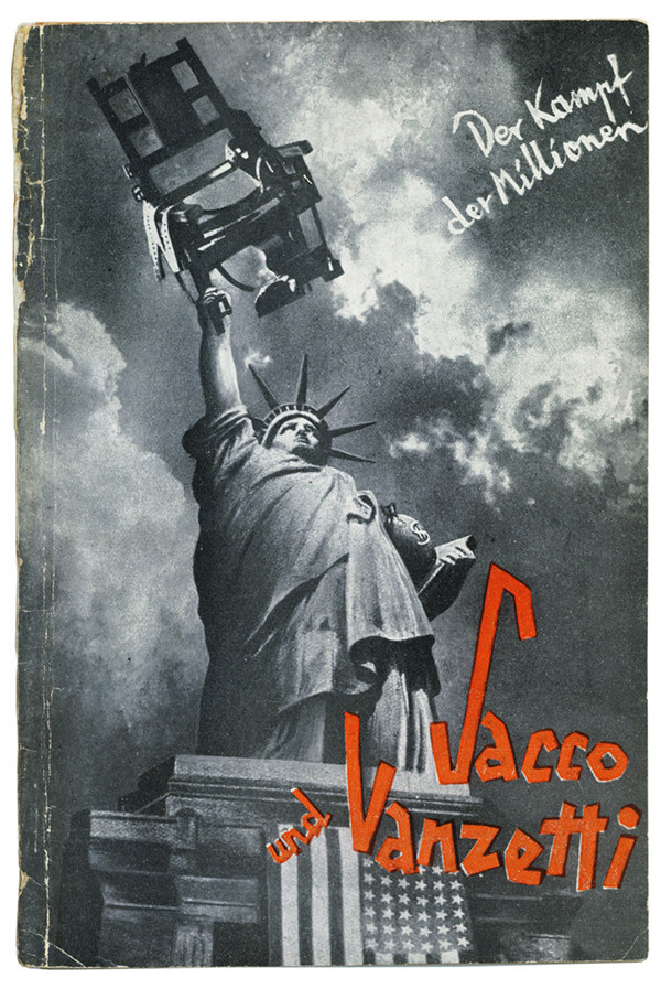 Sacco und Vanzetti. Berlin: Mopr-Verlag, 1928. Cover by Pewas.