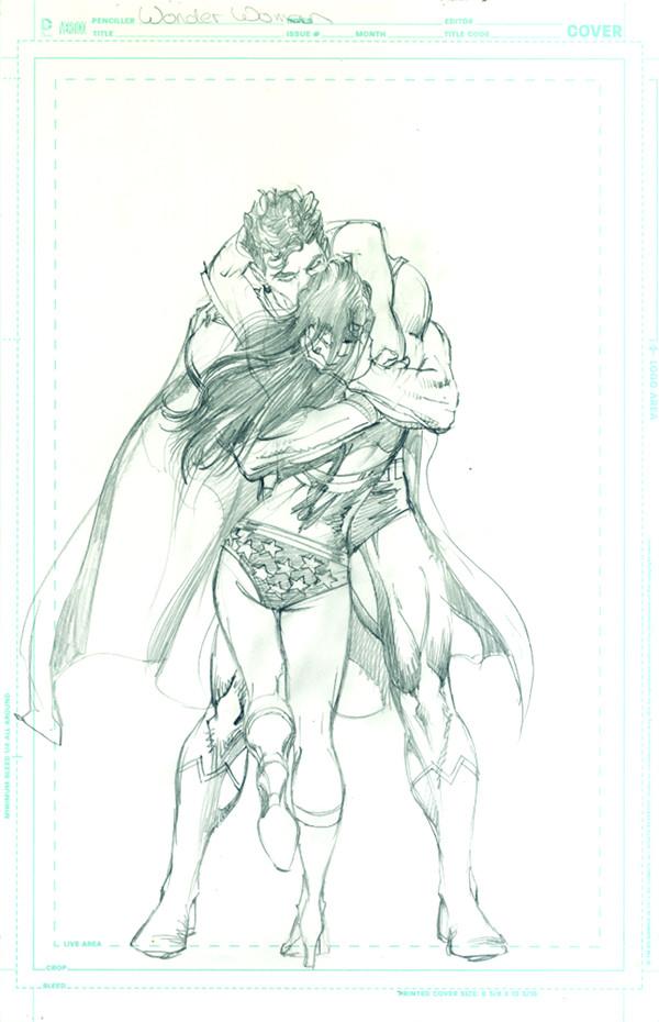 Neal Adams Wonder Woman cover sketch