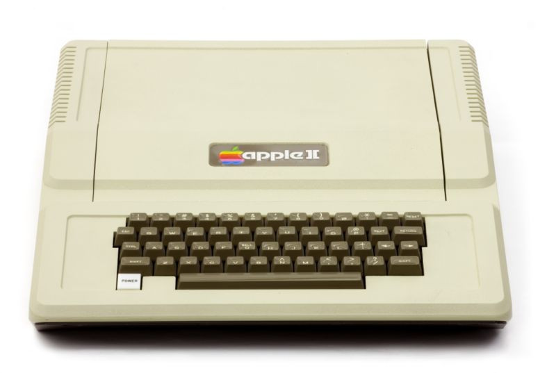 The Apple II introduced in 1977.
